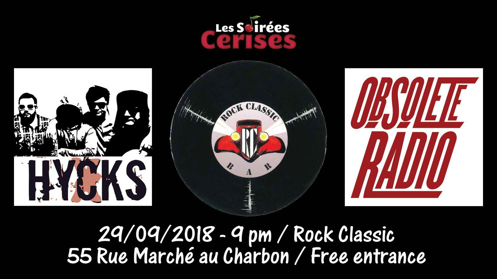 ▶ Obsolete radio (F) + Hycks (F) @ Rock Classic - 29/09/2018 - 21h00 - Entrée gratuite / Free entrance