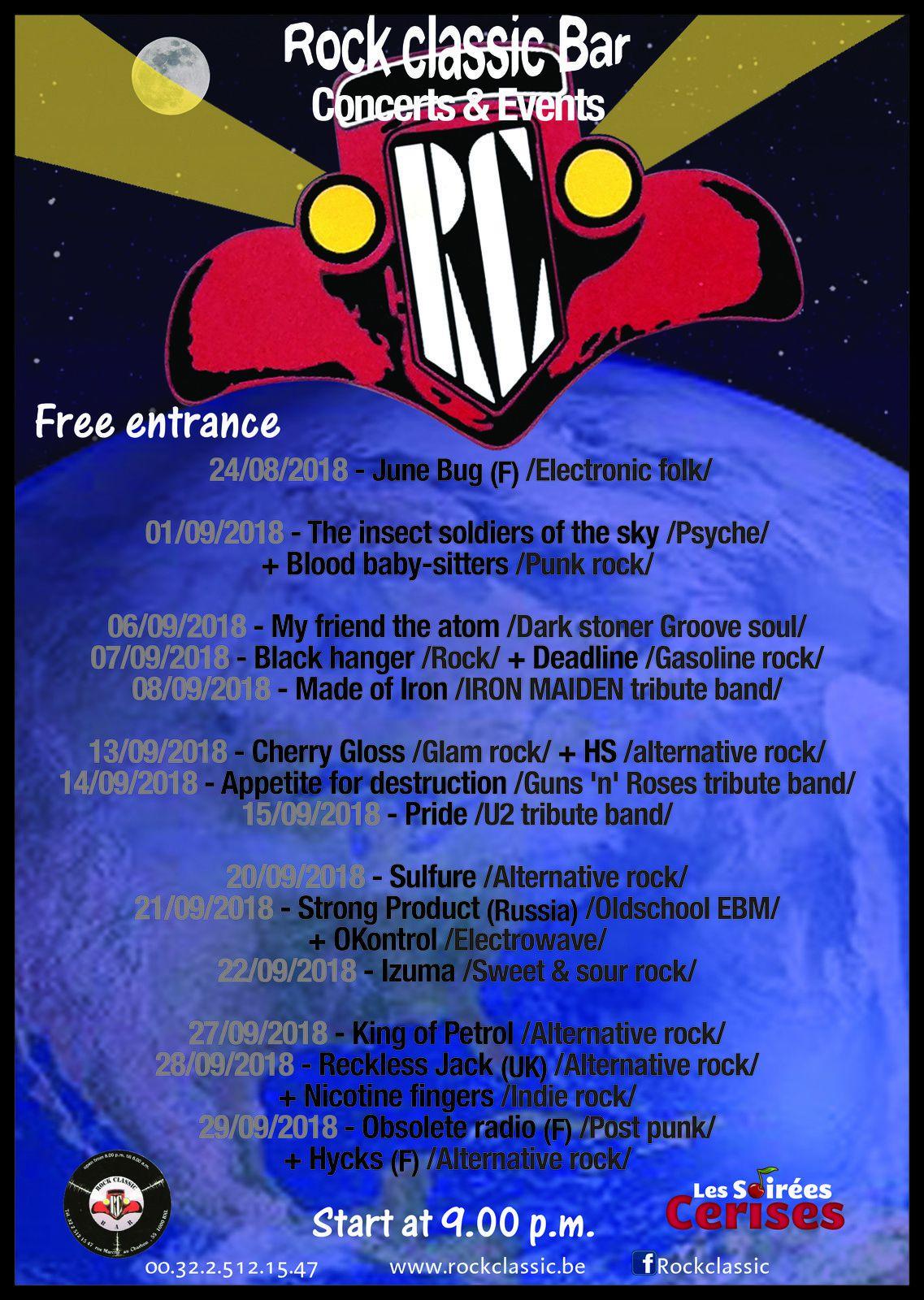 ▶ Le programme du mois de septembre au Rock Classic