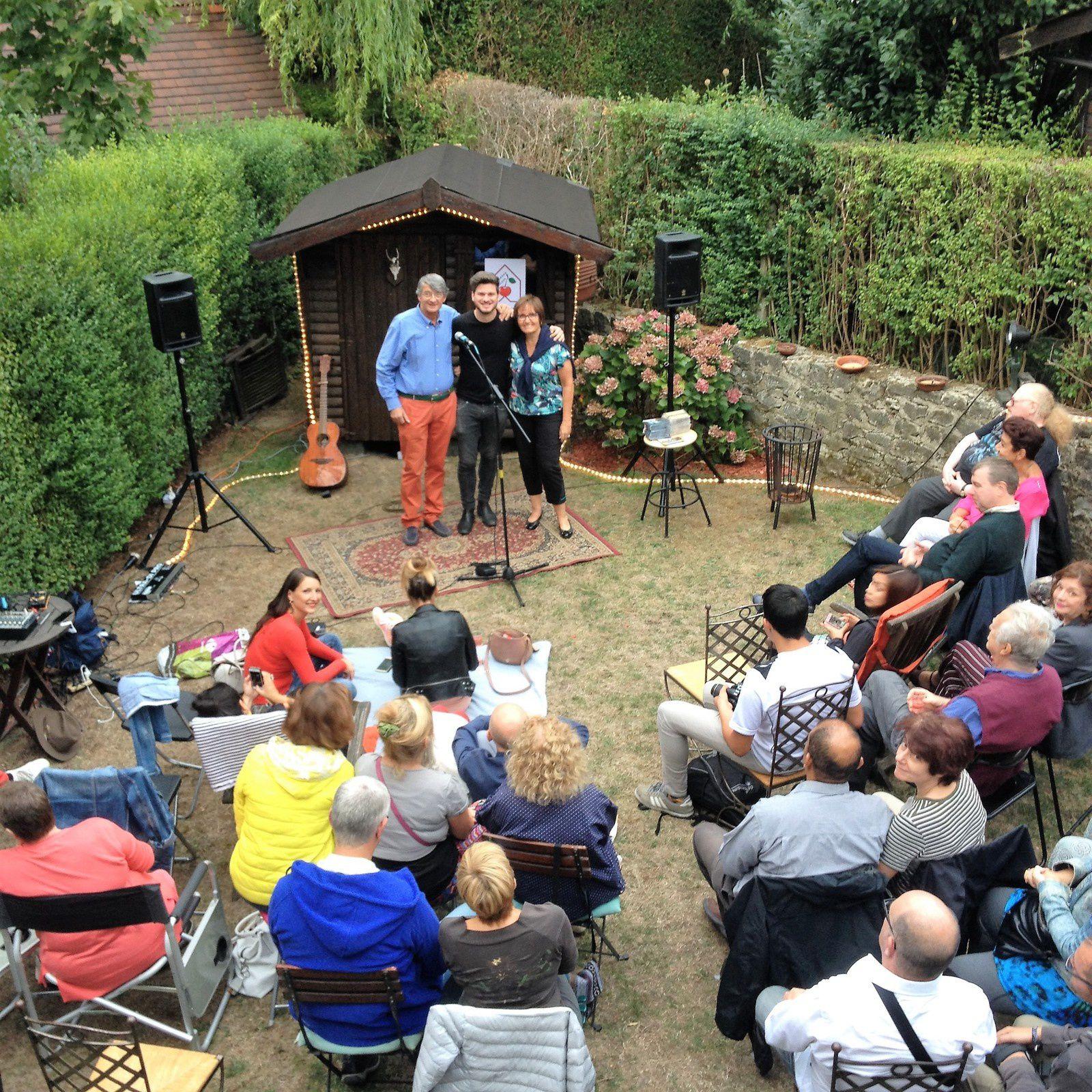 ▶ Photos - Concert au jardin avec Damien McFly (It) @ Woluwé-saint-Pierre (Home concert) - 14/08/2018
