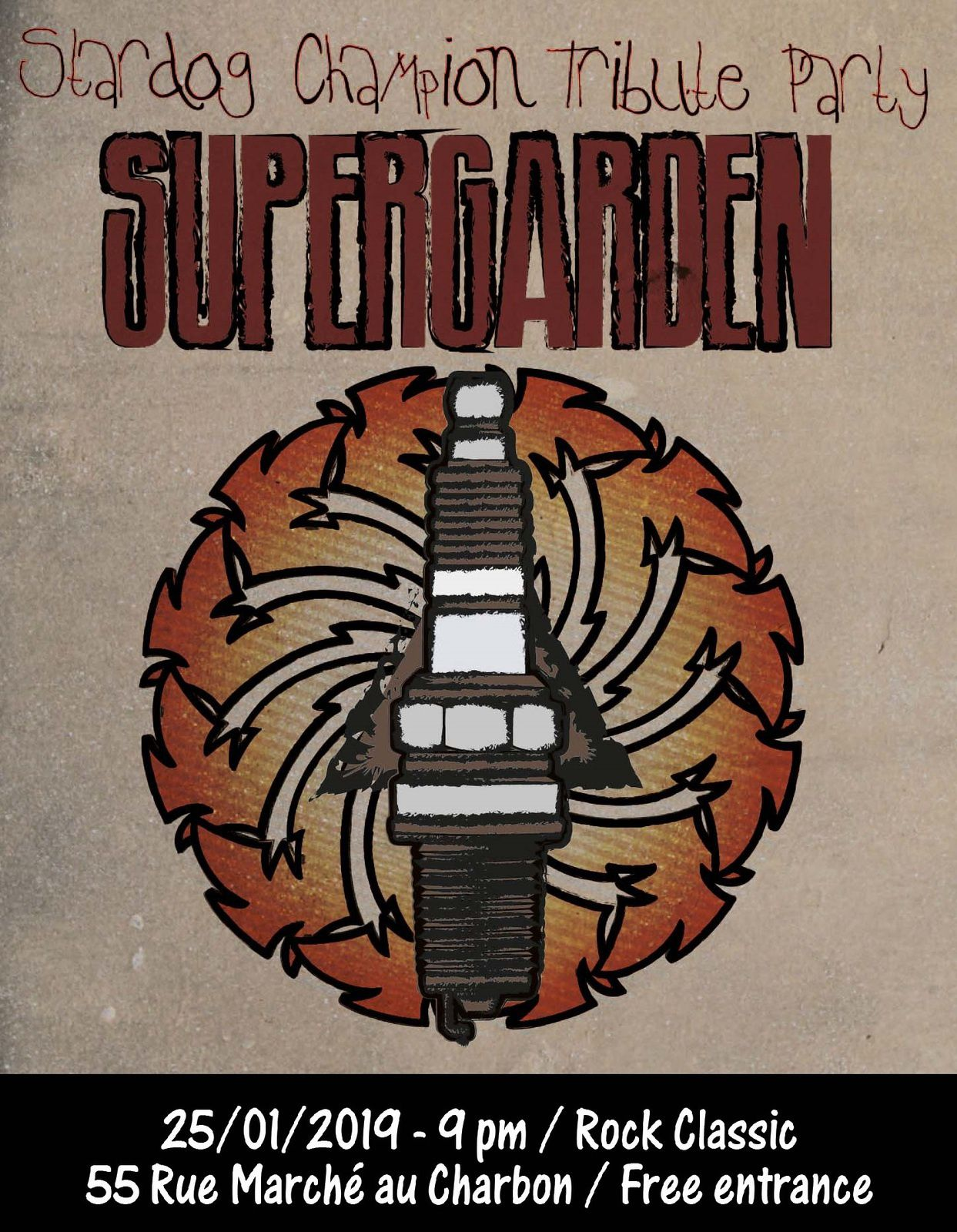 ▶ Supergarden (Soundgarden tribute band) au Rock Classic - 25/01/2019 - 21h00 - Entrée gratuite / Free entrance