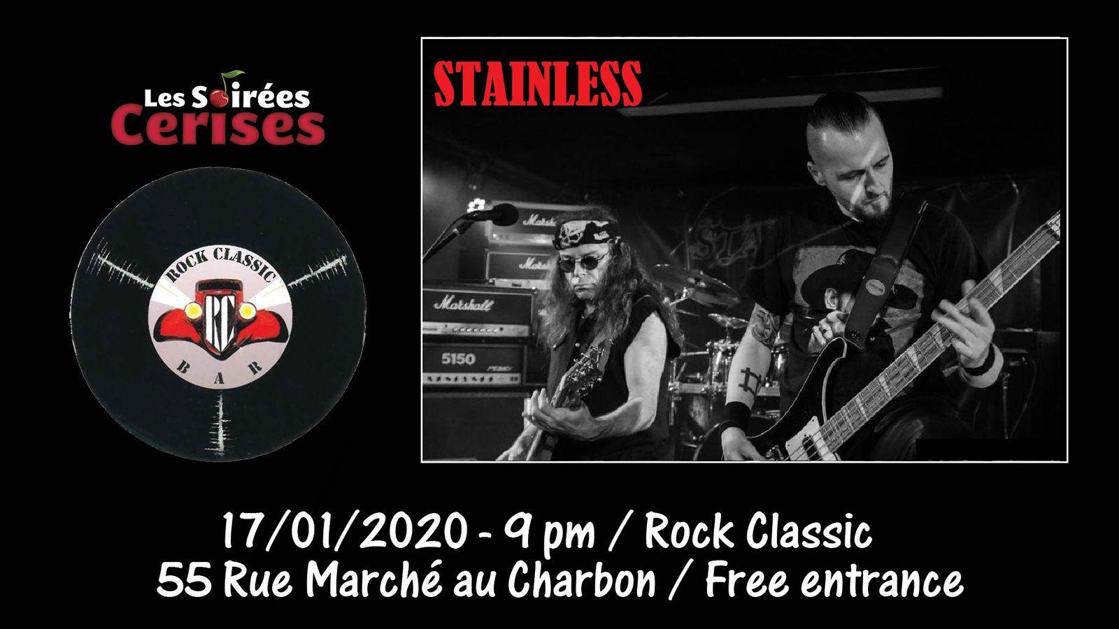 🎵 Stainless @ Rock Classic - 17/01/2020 - 21h00 - Entrée gratuite / Free entrance