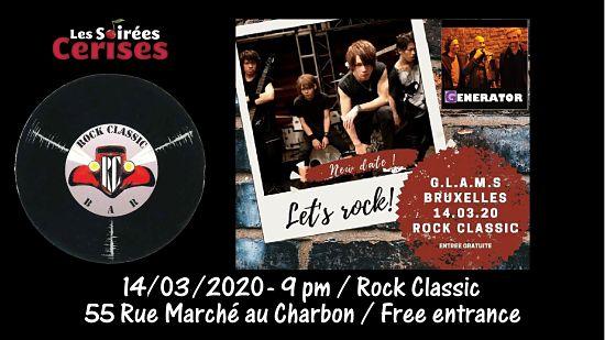 🎵 GLAMS (Japan) + Generator @ Rock Classic - 21h00 - Entrée gratuite / Free entrance