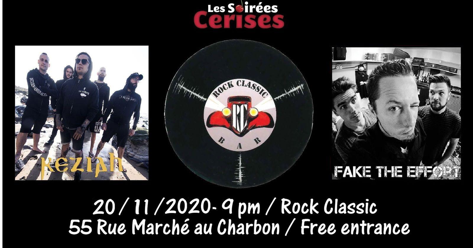 🎵 Keziah *Spain* + Fake the effort / Rock Classic - 20/11/2020 - Entrée gratuite / Free entrance