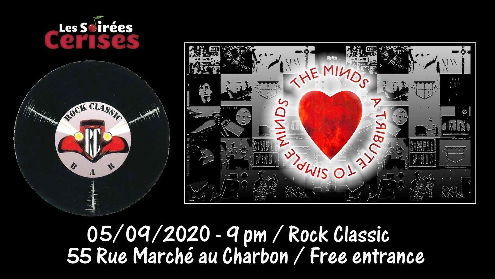 🎵 The Minds (SIMPLE MINDS tribute band) @ Rock Classic - 05/09/2020 - 21h00 - Entrée gratuite / Free entrance