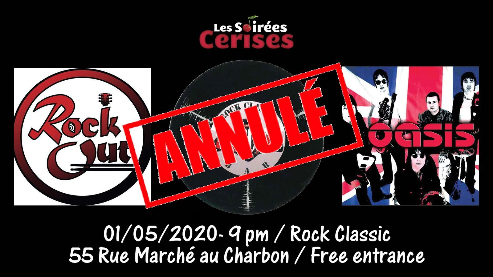 🎵 RockOut plays Oasis (It) @ Rock Classic - 01/05/2020 - annulé