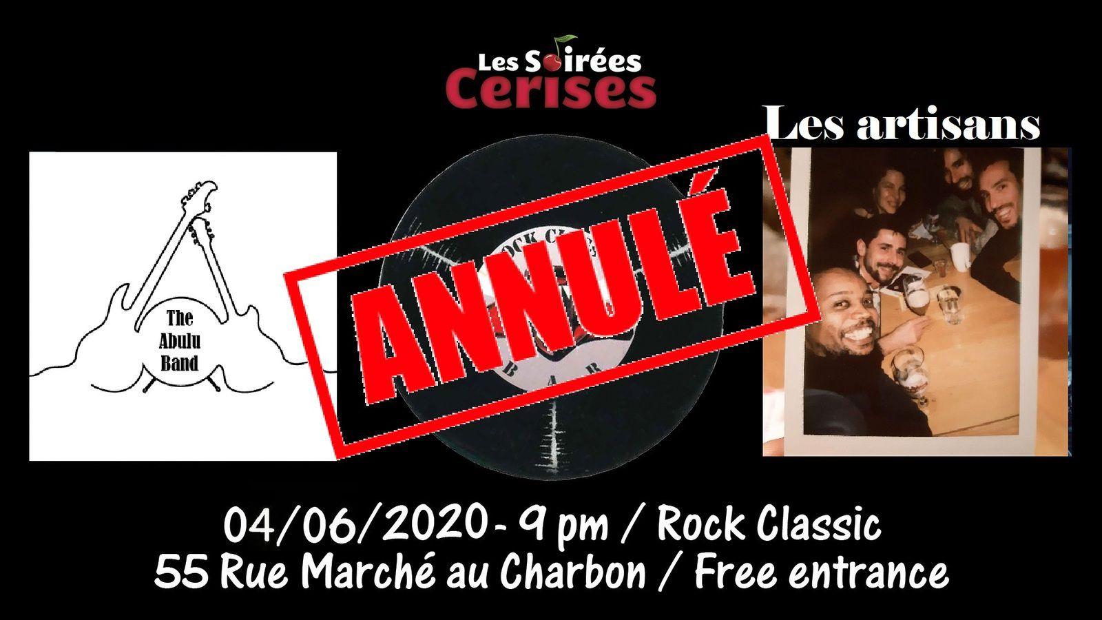 🎵 The Abulu band + Les artisans @ Rock Classic - 04/06/2020 - annulé