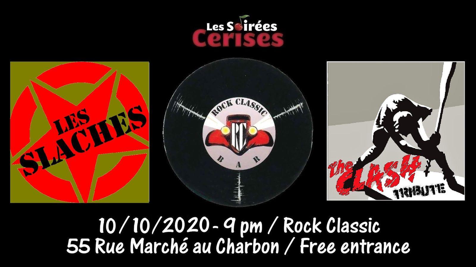 🎵 Les Slaches (THE CLASH tribute band) @ Rock Classic - 10/10/2020 - 21h00 - Entrée gratuite / Free entrance