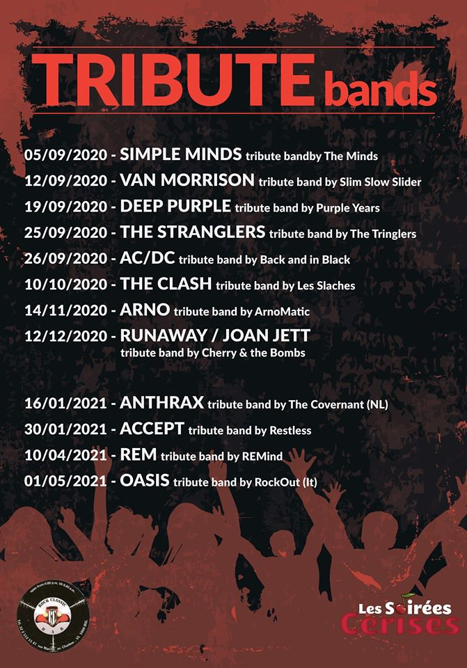 🎵 Programme TRIBUTE bands @ ROCK CLASSIC