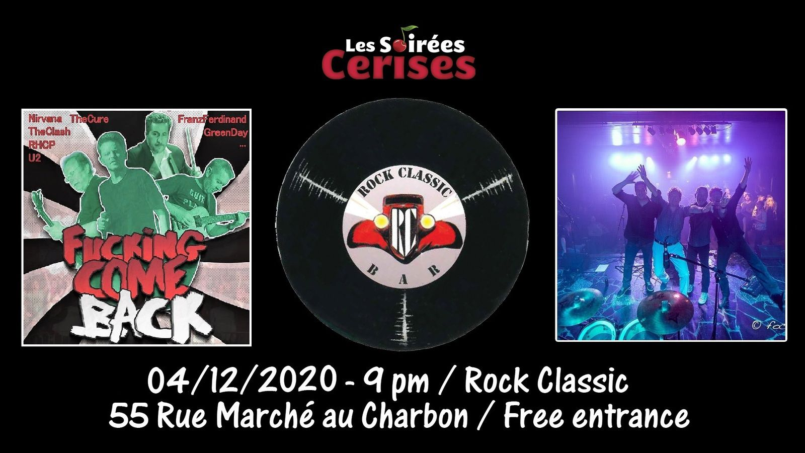 🎵 Fucking Come Back - The FCB's - Fucking Come Back - The FCB's - 21h00 - 04/12/2020 - 21h00 - Entrée gratuite / Free entrance