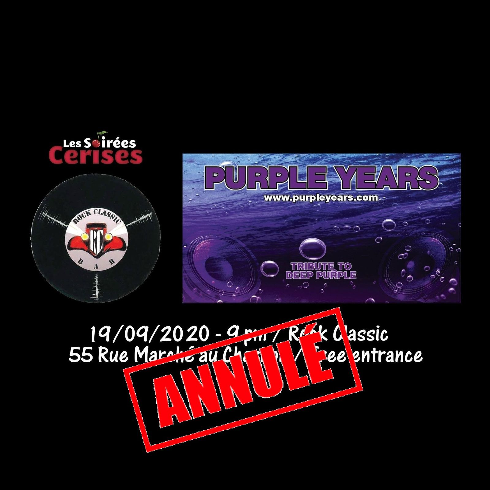 🎵 Purple Years @ Rock Classic - 19/09/2020 - annulé