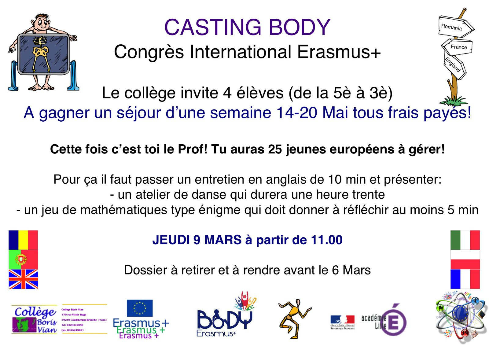 CASTING Congrès International Erasmus+