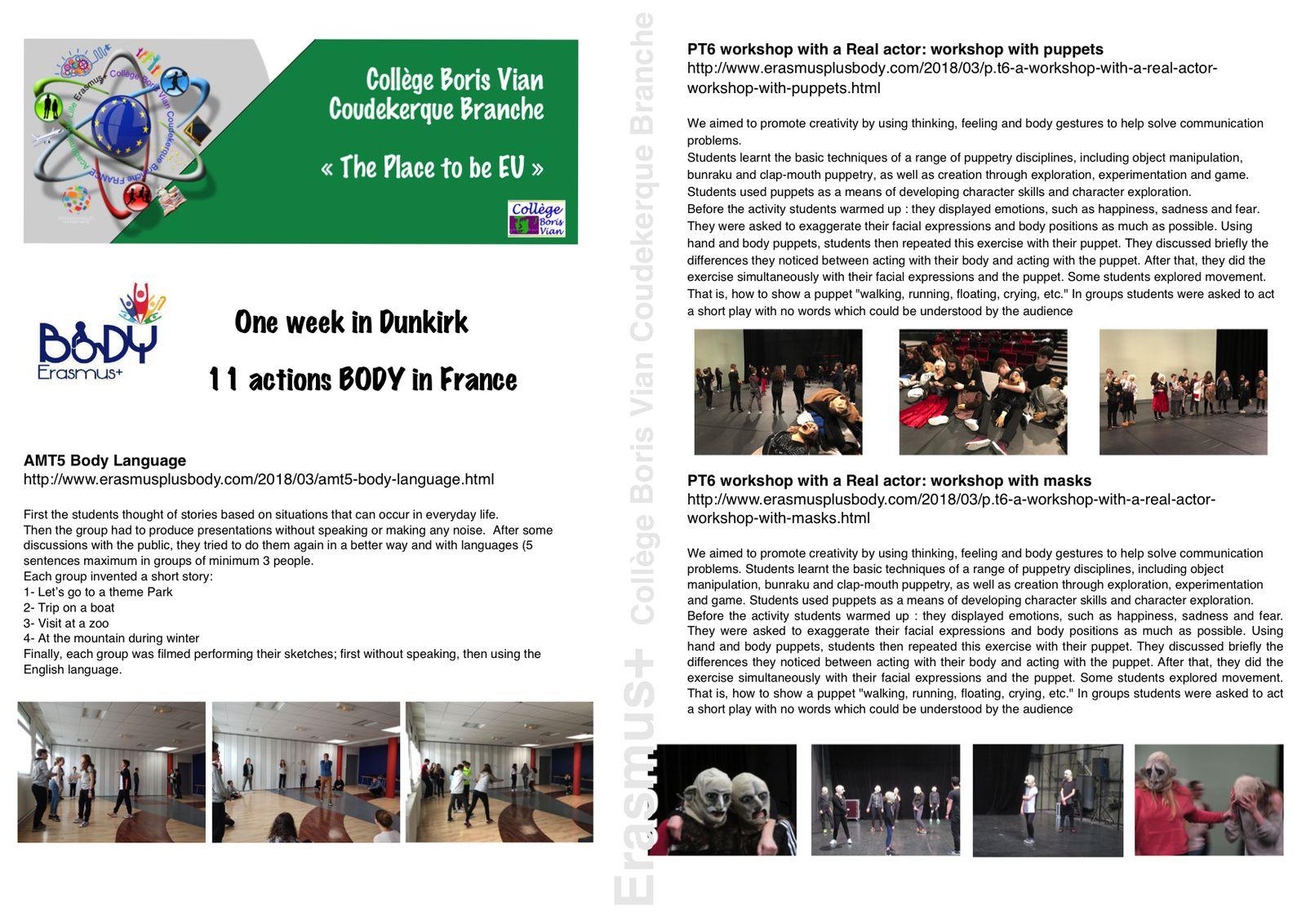 11 actions pédagogiques européennes en 6 jours au collège Boris Vian