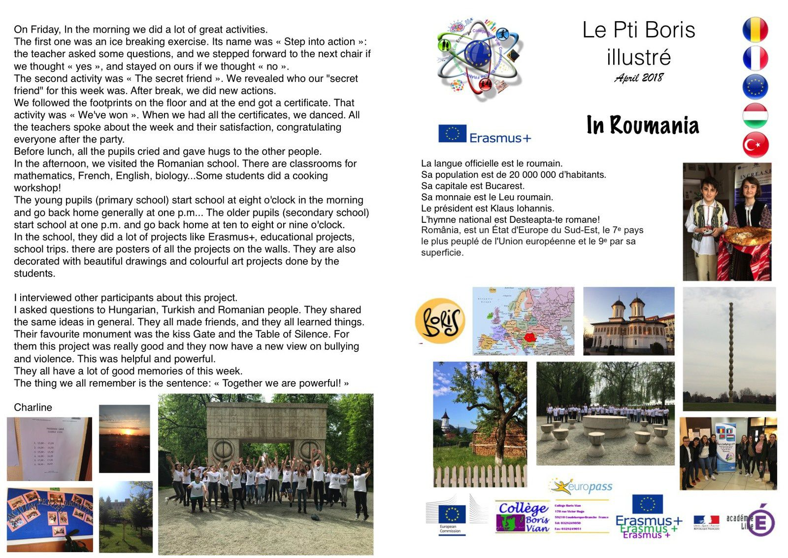 Let's remind our experience in Romania about bullying