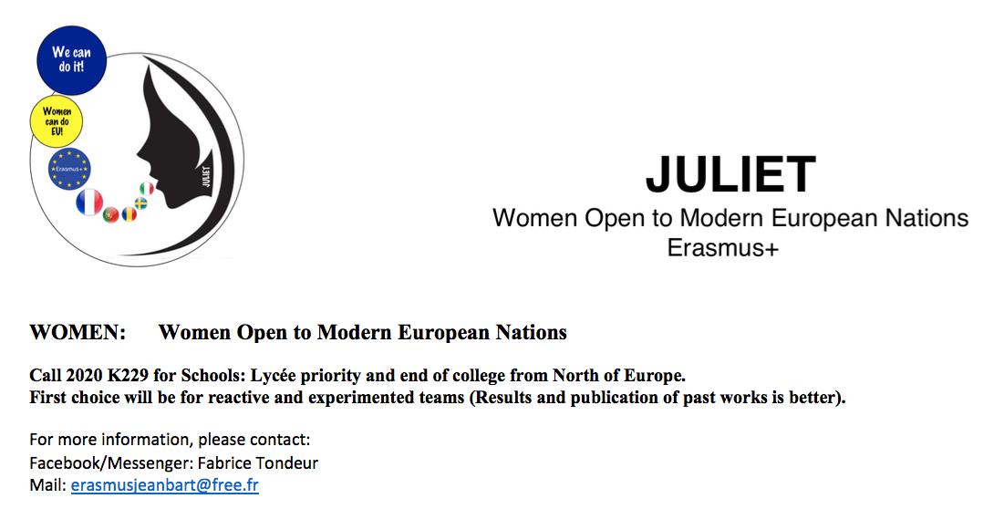 Call 2020 Erasmus+ K229 Need partners
