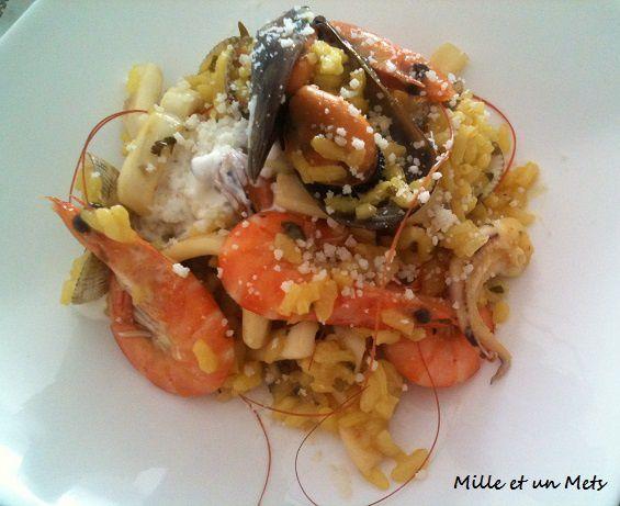 Risotto safrané aux fruits de mer