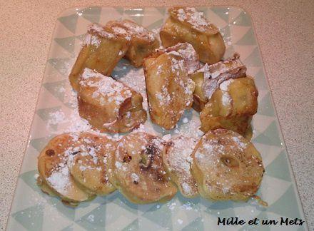 Beignets express à la banane & aux pommes