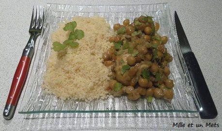 Couscous de poulet, raisins secs & pois chiche