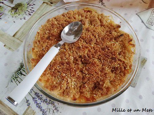 Crumble aux pommes vanillées & graines de sésame