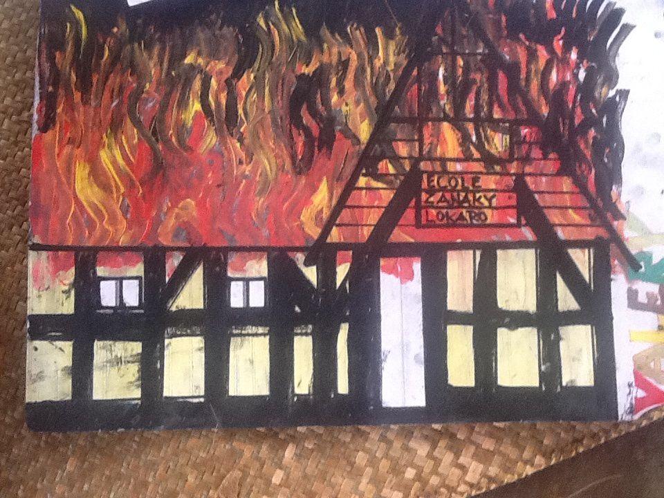 Le feu vu par l'instituteur Valéry