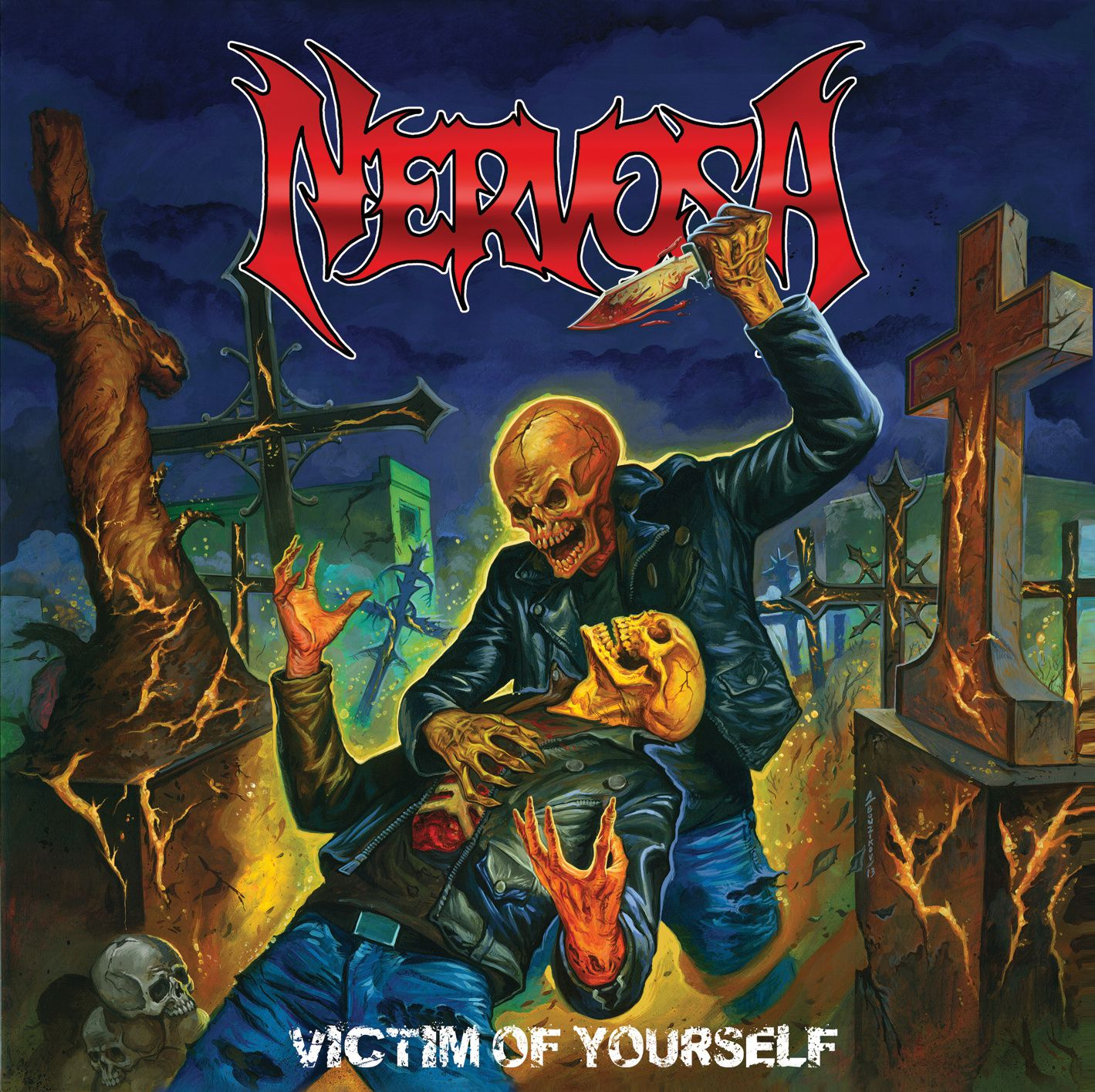 """CD review NERVOSA """"Victim of yourself"""""""