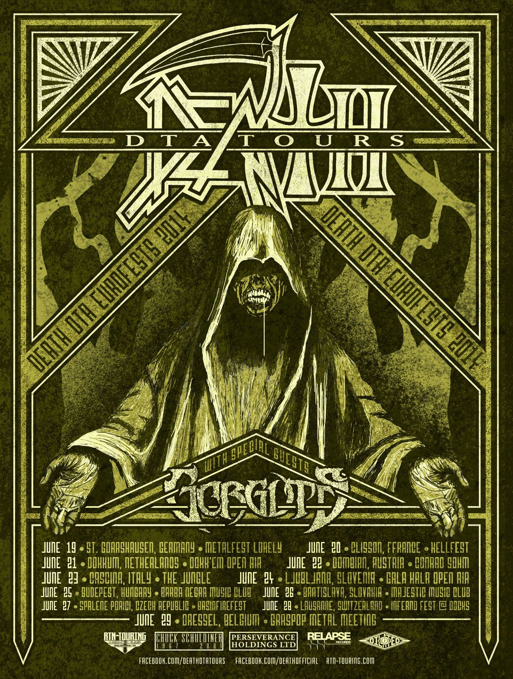DEATH (DTA) back for some European dates