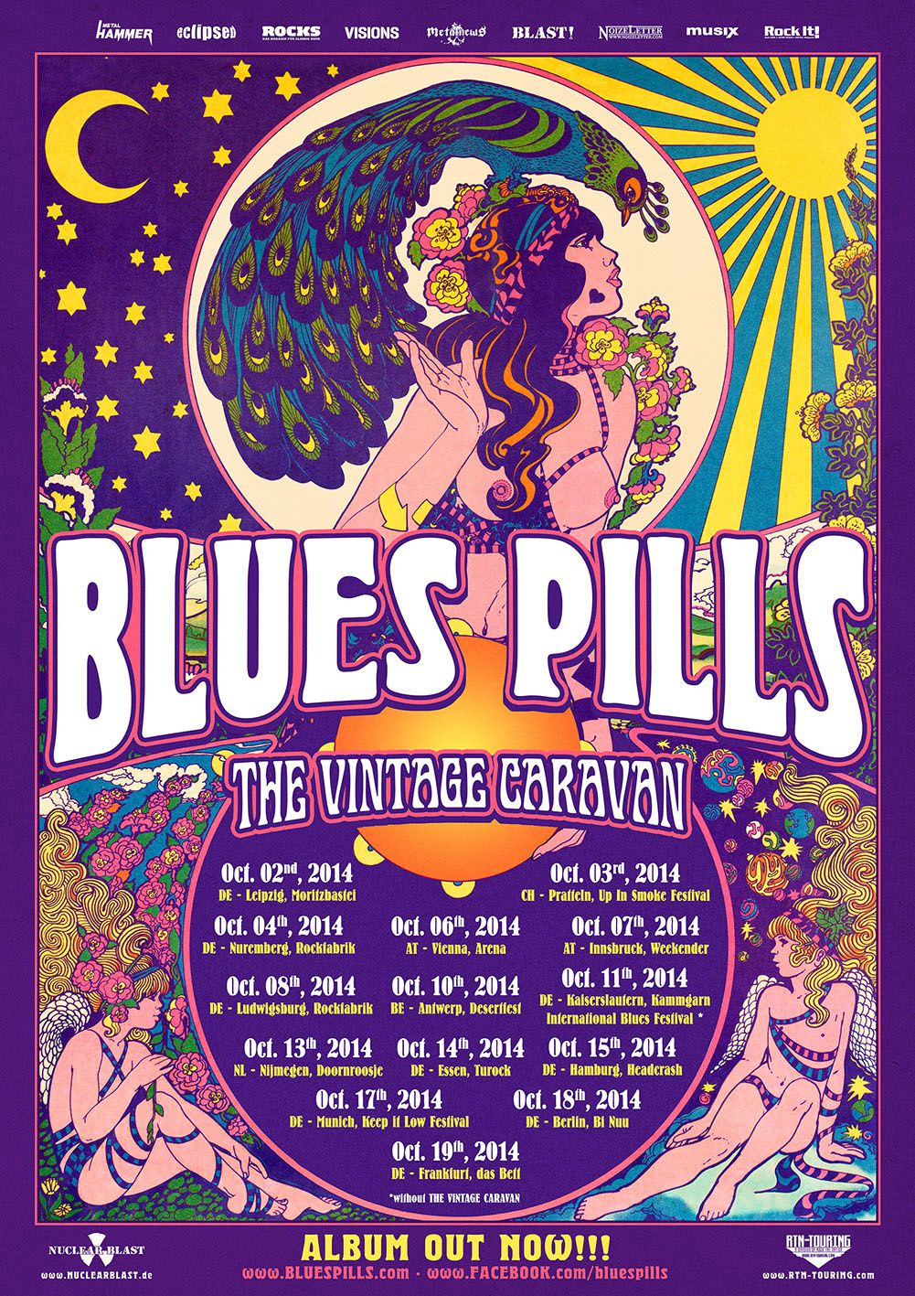 BLUES PILLS on tour in Europe