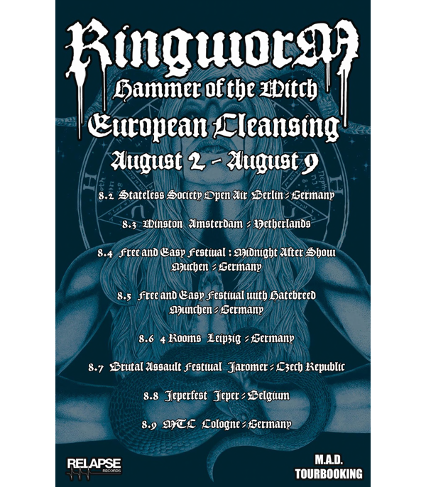 RINGWORM on tour in Europe in August