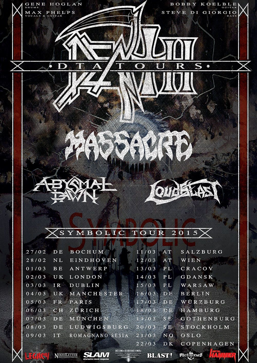 DEATH DTA on tour in Europe in spring