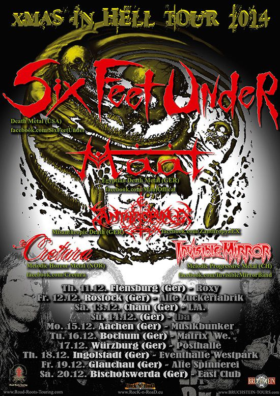 SIX FEET UNDER on tour in Germany before x-mss