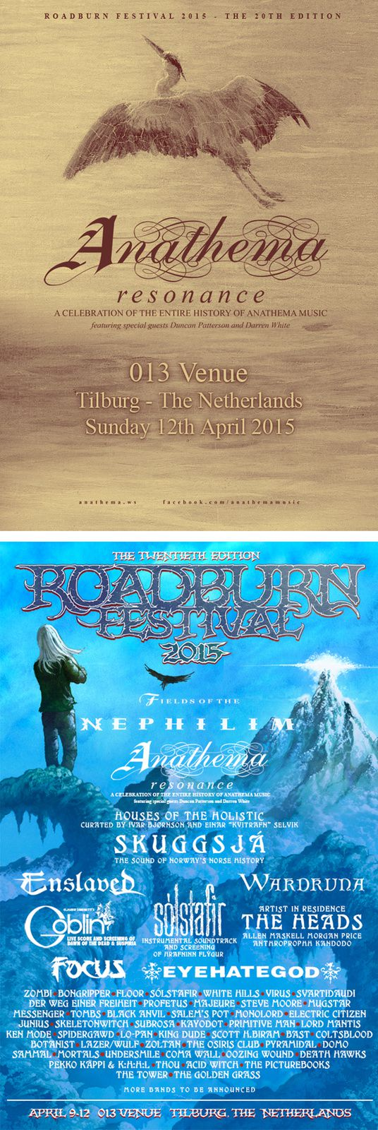 ANATHEMA will play a special show at the ROADBURN 2015