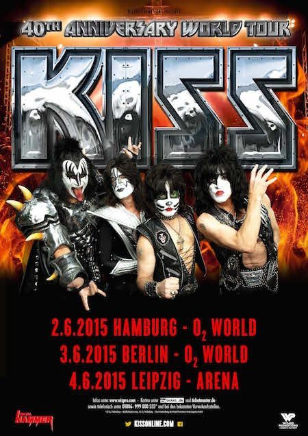 Update: KISS will play some shows and festivals in Europe in 2015