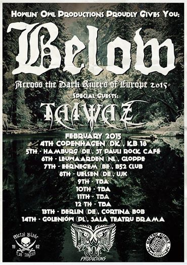 BELOW on tour in 2015