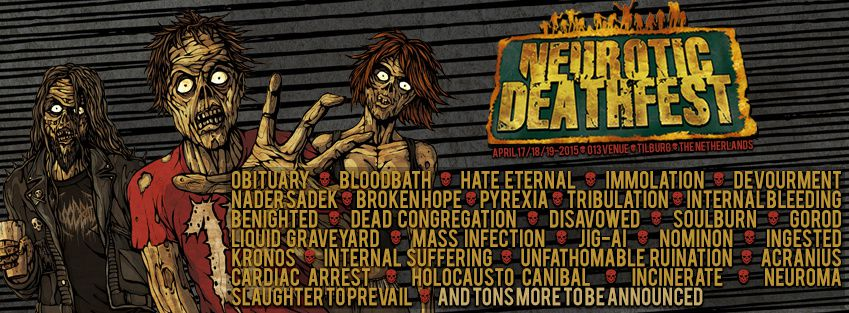 New bands for the Neurotic Deathfest are confirmed
