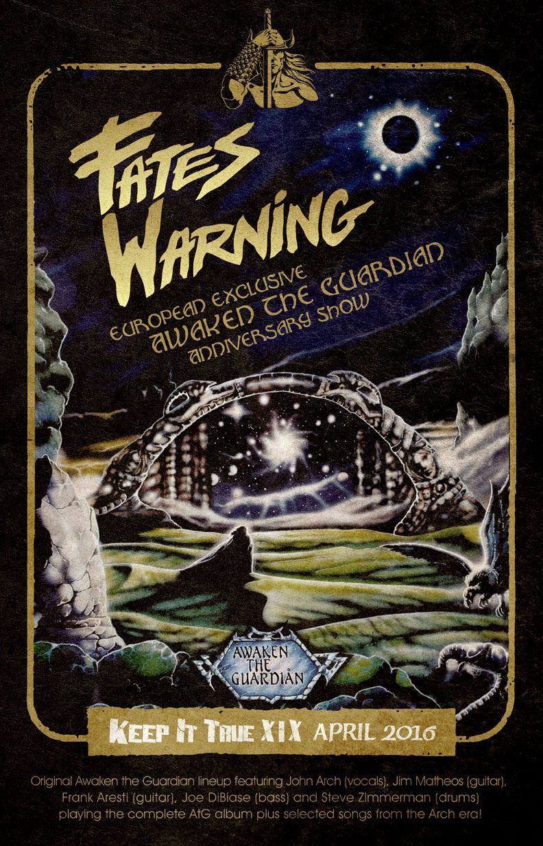 """FATES WARNING live in the """"Awaken the guardian"""" line-up"""