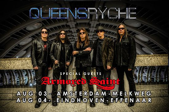 QUEENSRYCHE on tour in Europe + ARMORED SAINT as support