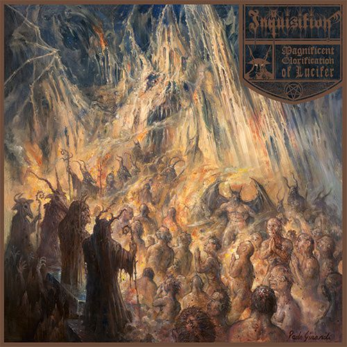 """Artwork of INQUISITION's """"Magnificent glorification of lucifer"""""""