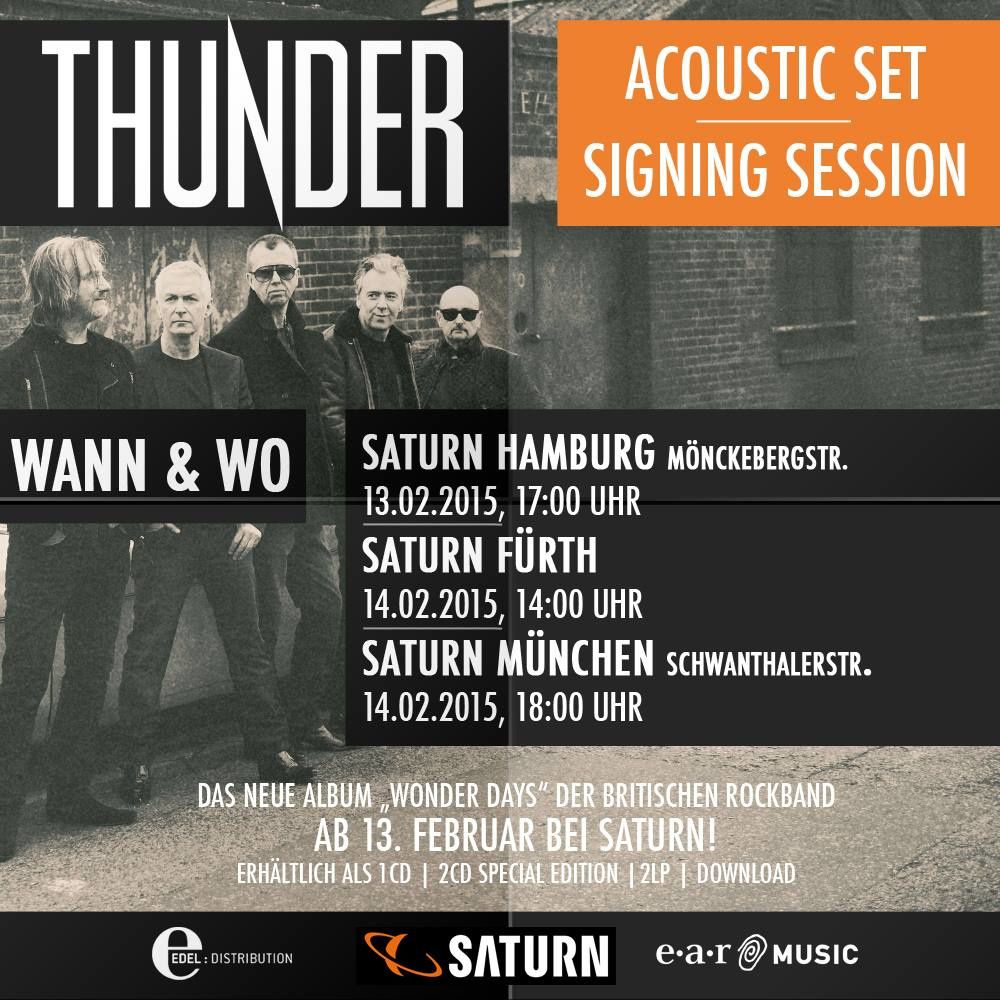 THUNDER acoustic shows