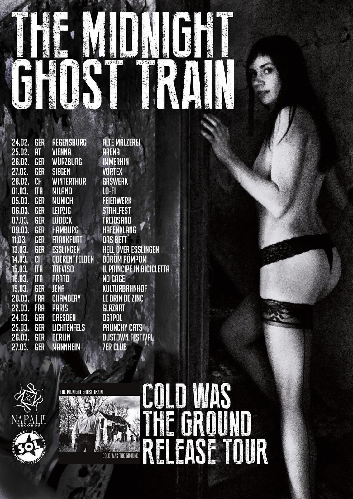 MIDNIGHT GHOST TRAIN on tour in Europe