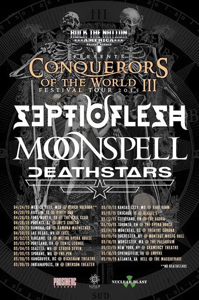 MOONSPELL on tour in the North America