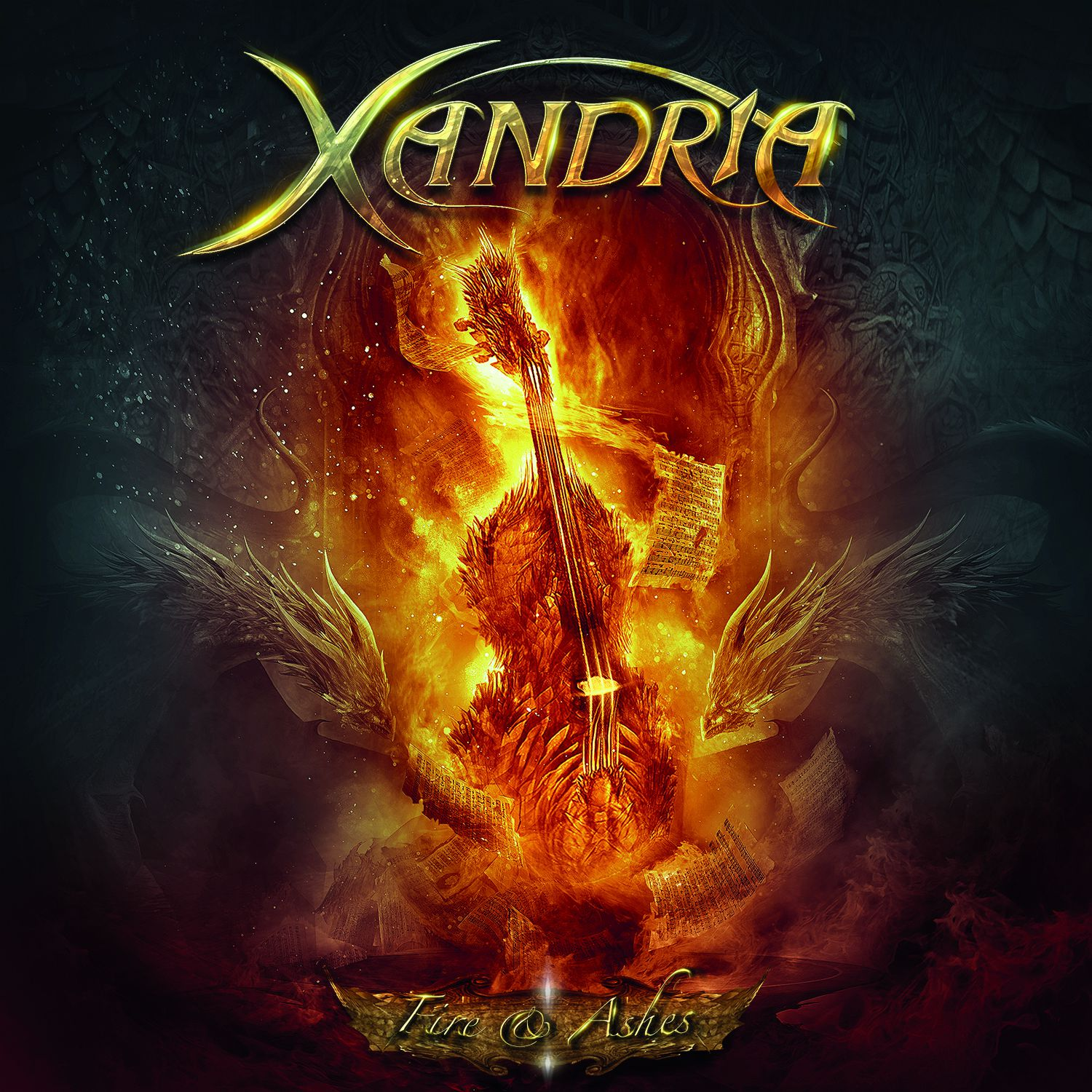 """CD review XANDRIA """"Fire & ashes"""" EP"""
