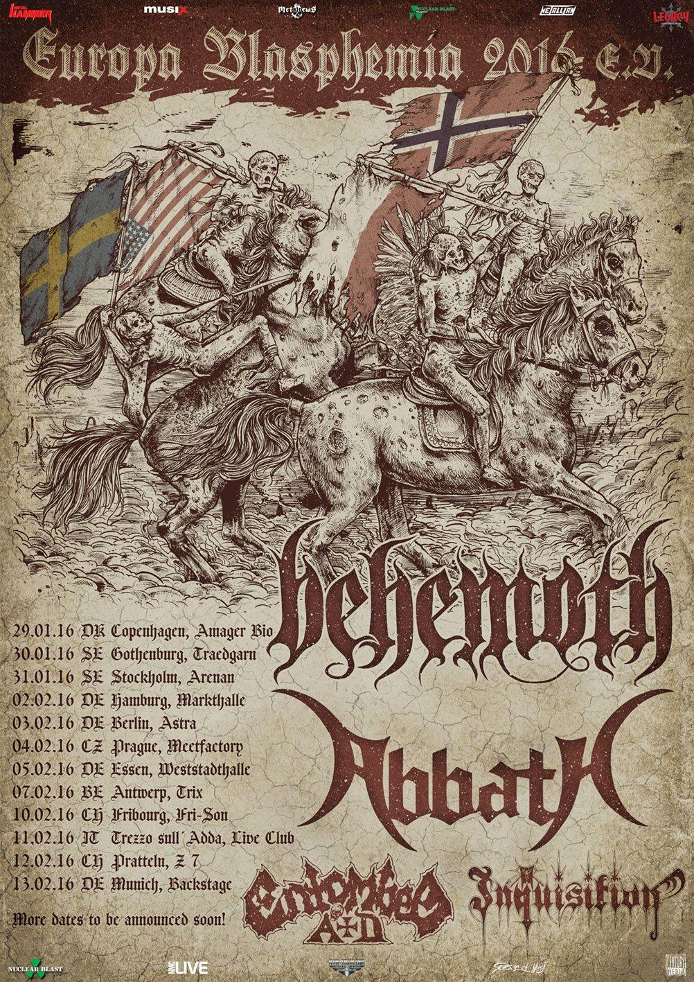 ABBATH European tour dates 2016