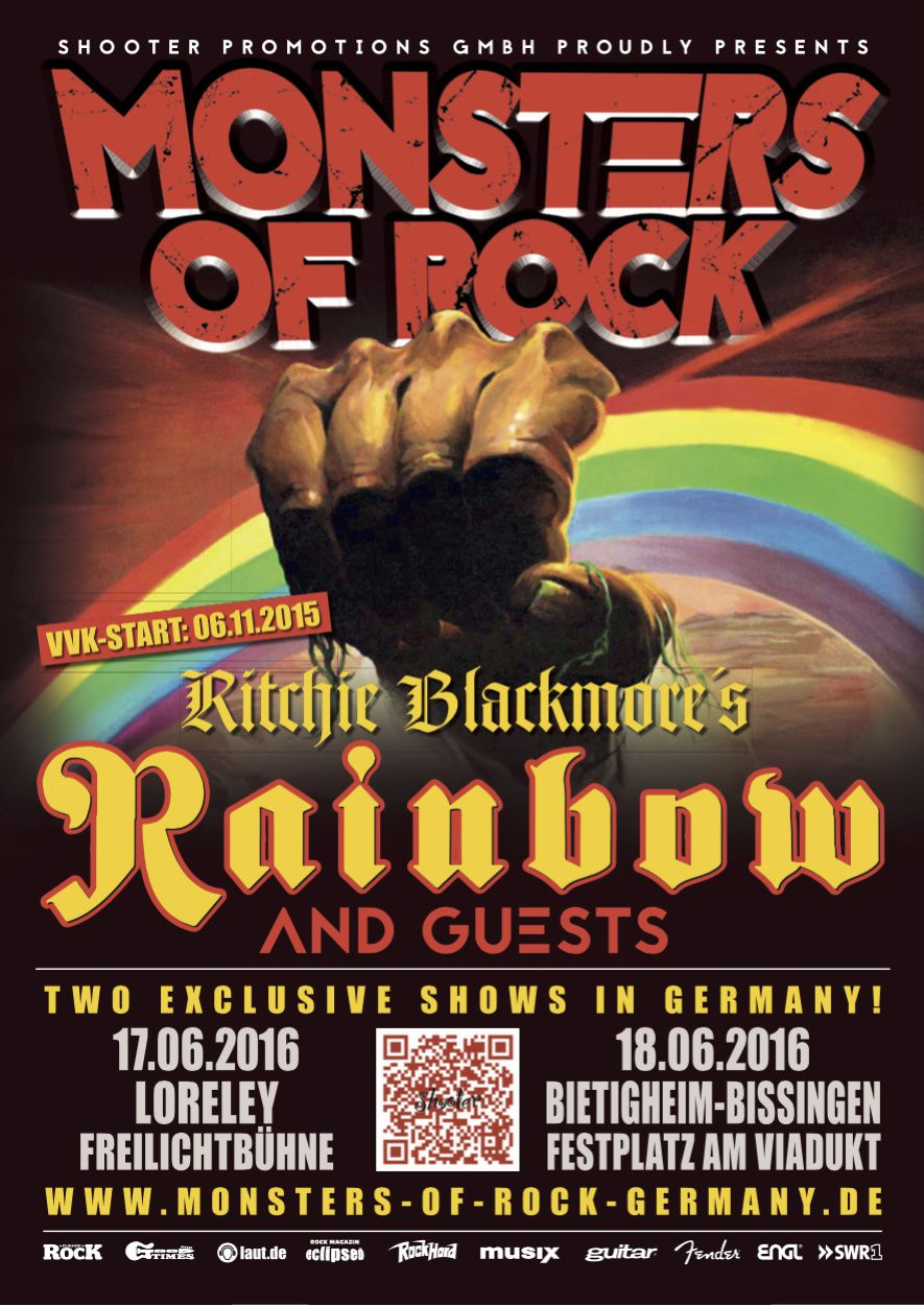 Monsters Of Rock 2016 with RITCHIE BLACKMORE'S RAINBOW