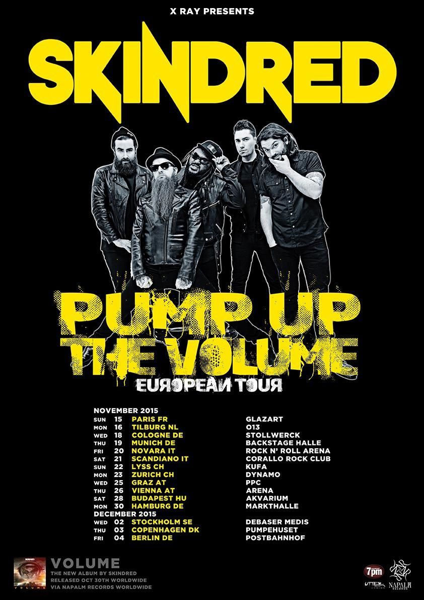 Tour dates SKINDRED