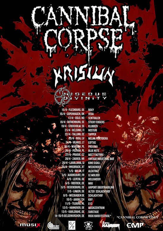 CANNIBAL CORPSE announces European tour