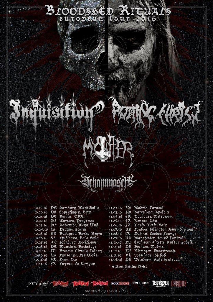 ROTTING CHRIST / INQUISITION tour dates Europe