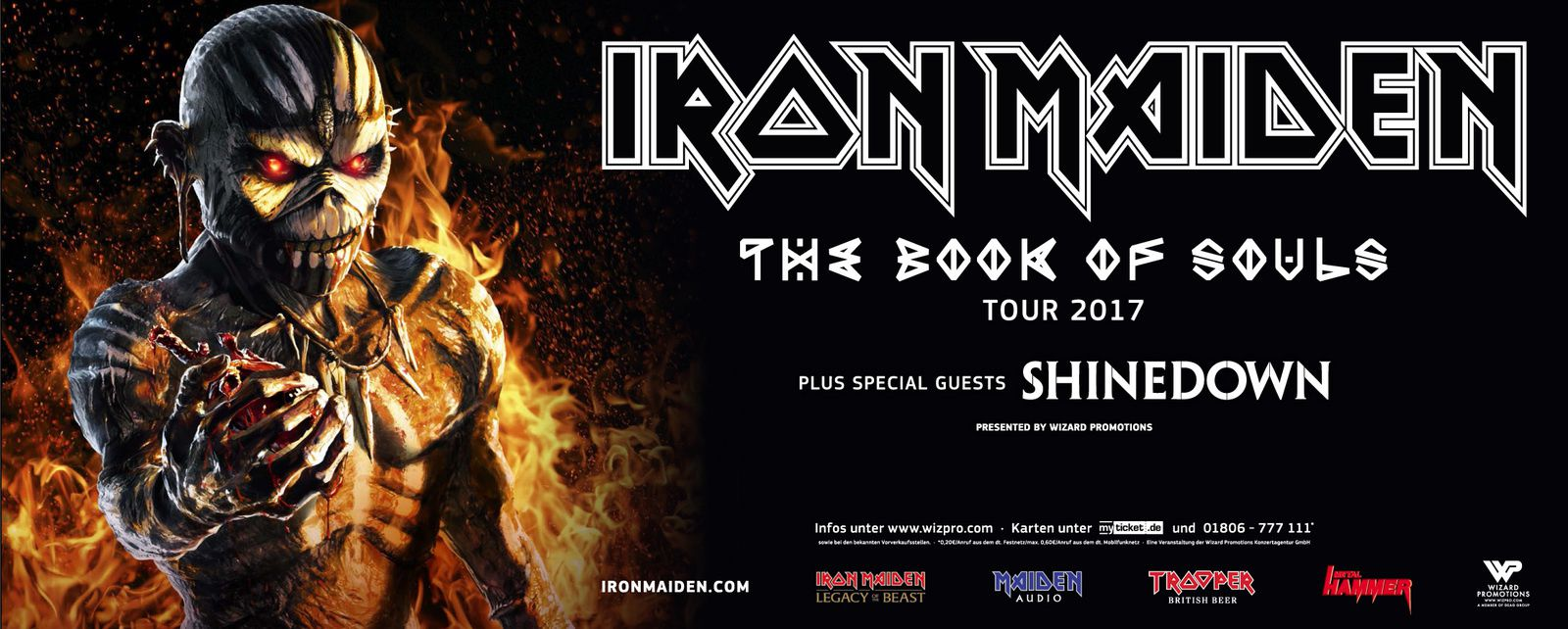 """IRON MAIDEN continues """"Book of Souls tour"""" also in 2017"""