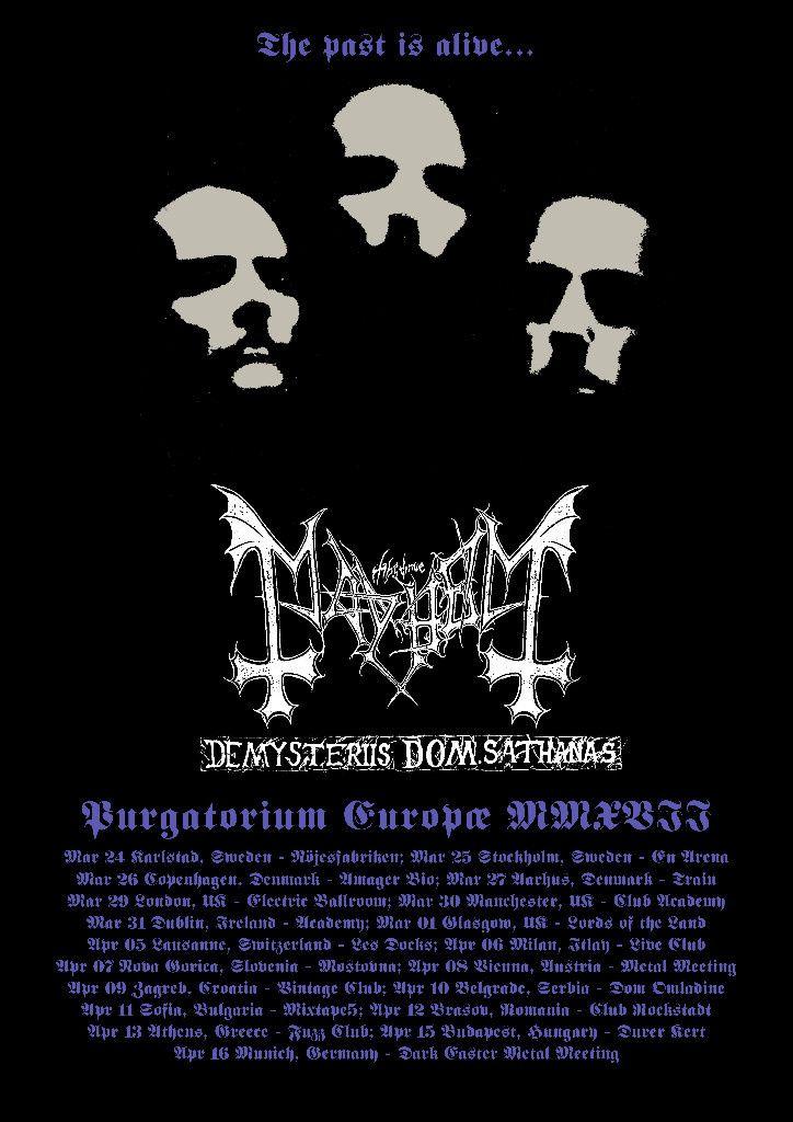 MAYHEM bring De Mysteriis Dom Sathanas to Europe