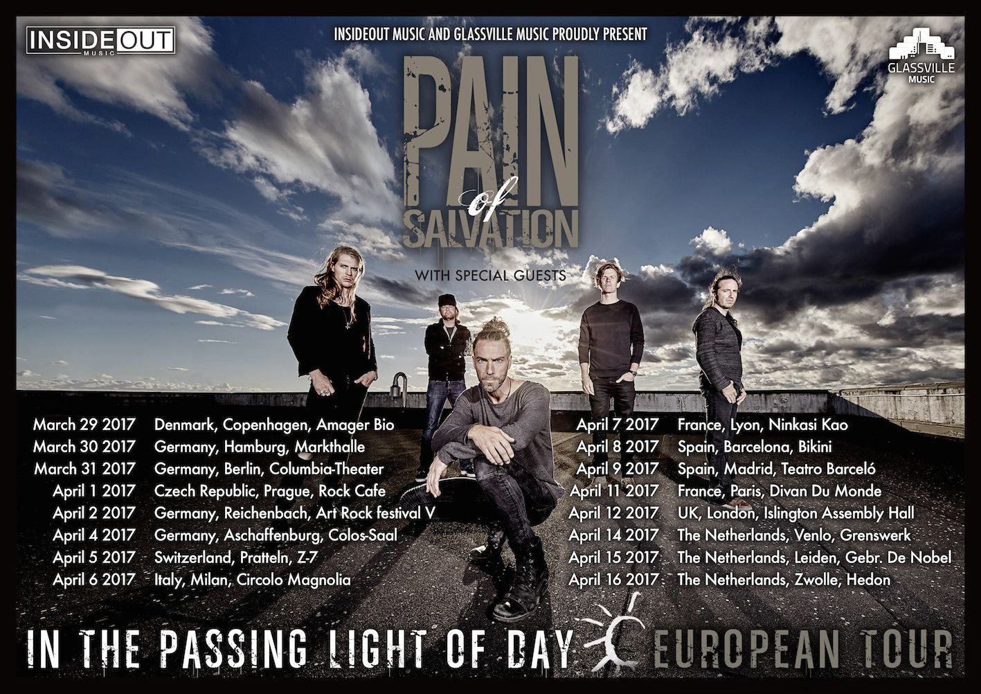 PAIN OF SALVATION tour dates for Europe