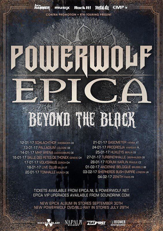 POWERWOLF on tour through Europe with EPICA and BEYOND THE BLACK