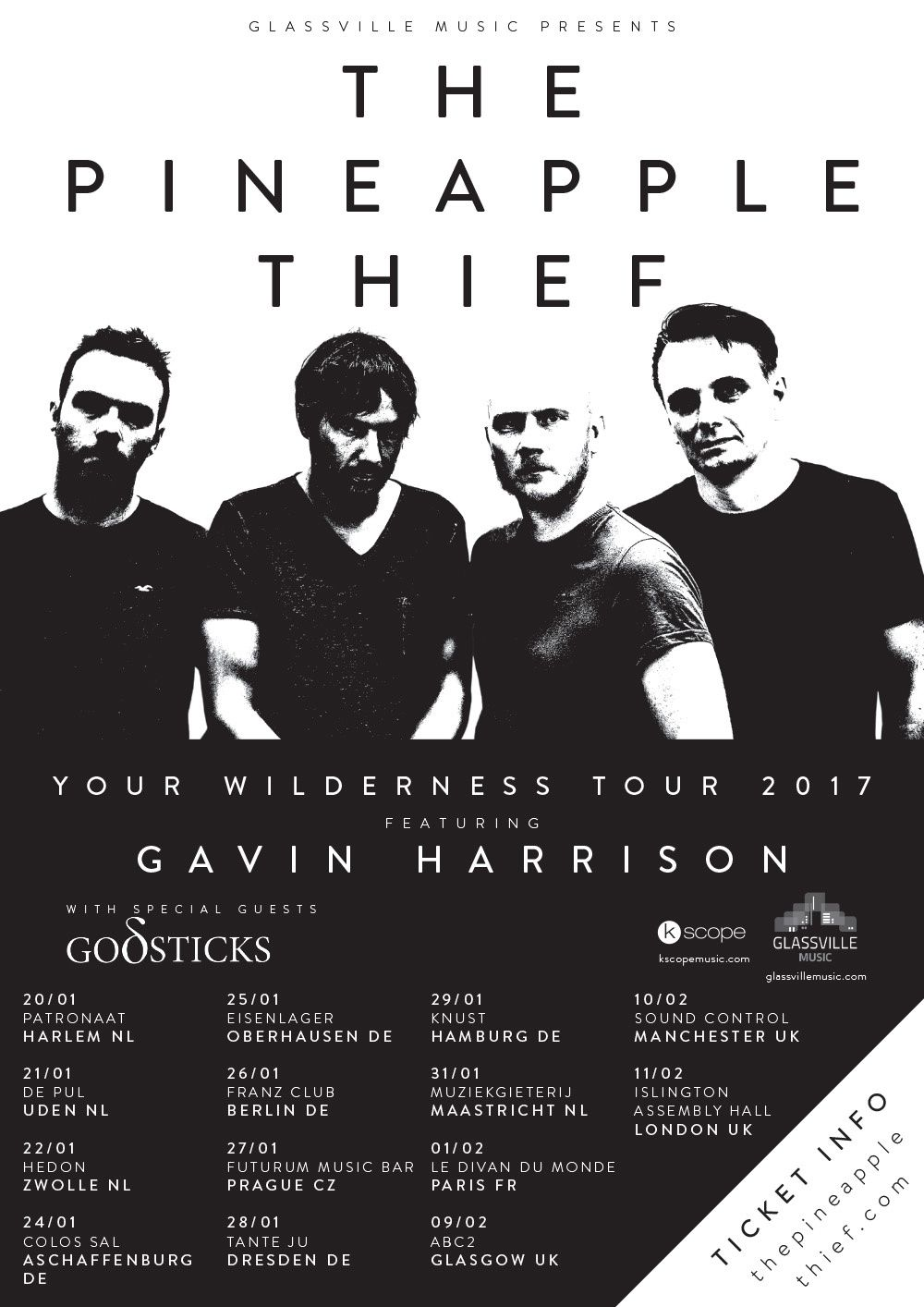 European tourdates THE PINEAPPLE THIEF